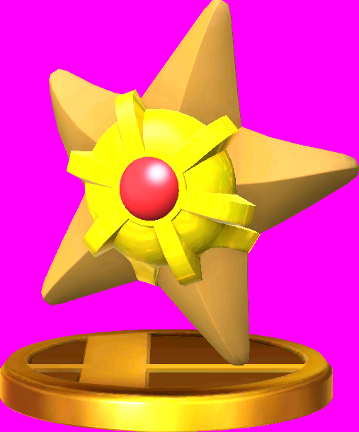 Staryu trophy SSB3DS