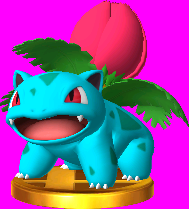 File:Ivysaur trophy SSB3DS.png