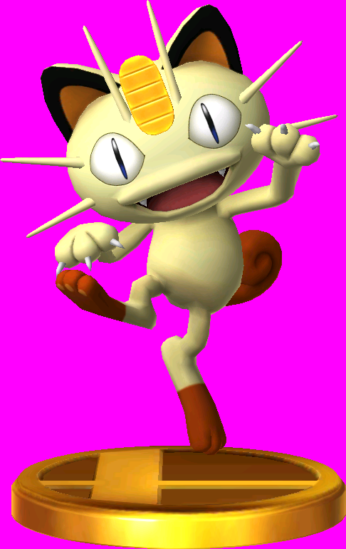 Meowth trophy SSB3DS