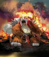 Entei Unleashed TCG artwork