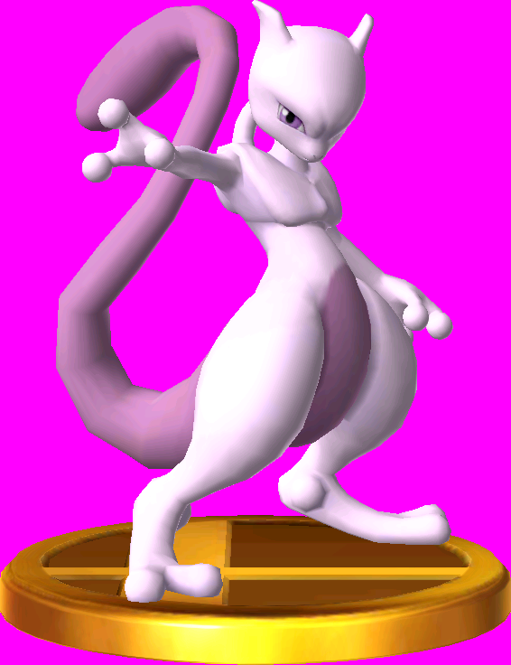 Mewtwo trophy SSB3DS