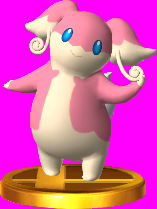 Audino trophy SSB3DS