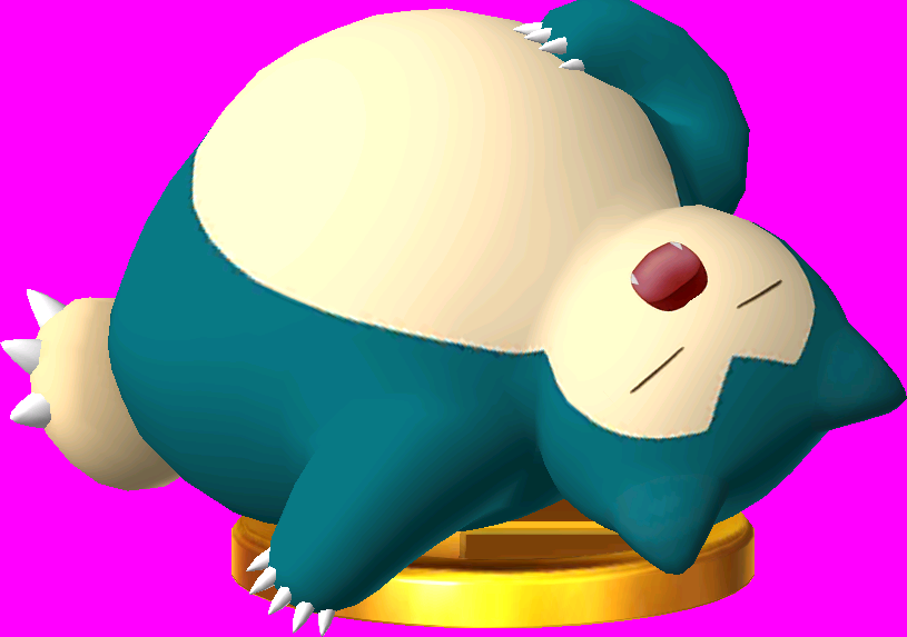 File:Snorlax trophy SSB3DS.png