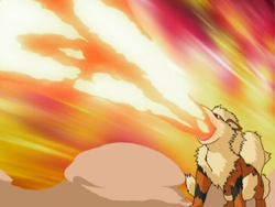 Officer Jenny Arcanine Flamethrower