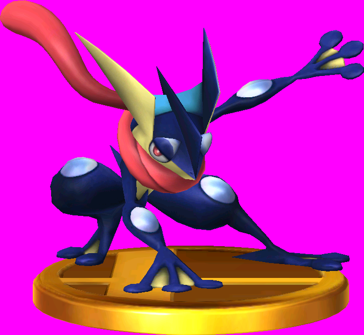 Greninja trophy SSB3DS