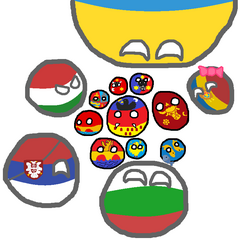 Regions of Romaniaball(With neghiobers)
