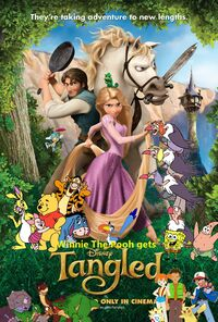 Winnie the Pooh gets Tangled Poster
