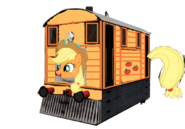 Applejack as a Thomas character