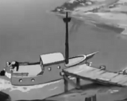 Popeye's ship in Stealin Aint Honest