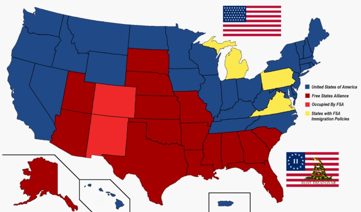 map of united states in 1861 with Second American Civil War on What Brought Settlers To The Midwest further Historical Map Of The British United States further Ship Of The Line USS Pennsylvania also Detailed Political Map Of World In 1860 moreover Civil War Blank Map Us.