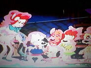 Holly and Pound Puppies covered in Goo