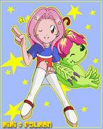 Mimi and Palmon stars