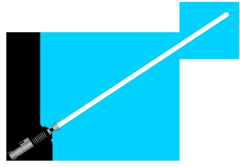 File:Lightsaber, silver hilt, blue blade.png