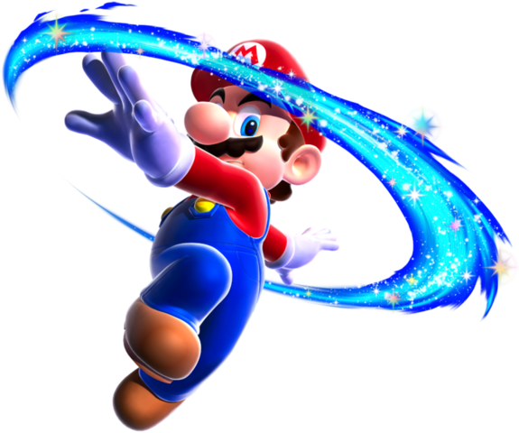 File:Mario Spin Art - Super Mario Galaxy.png