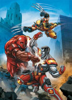 Juggernaut, Wolverine and Colossus