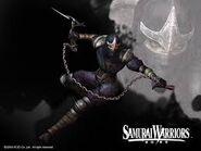 Ninja with chained scythe