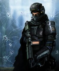 Soldiers guns marine science fiction mercenary tactical armored suit danny luvisi 1100x1320 wallp www.wall321.com 7