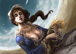 File:Demeter Ceres Greek Goddess Art 08 by Midori Harada-300x214.jpg