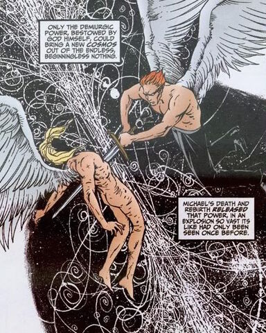 File:Michael Lucifer DC Vertigo Cosmos creation.jpg