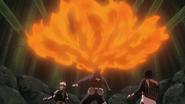 Obito using fire technique