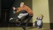 Himawari knocks out Naruto