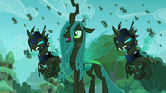 Queen Chrysalis and her changeling army (My Little Pony Friendship Is Magic)