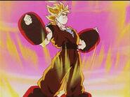 DBZ ep207 Take Flight, Videl SSJ Goku's Weight Training 17