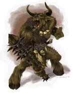 Minotaur raging
