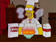 Cornflakes erupt in flames
