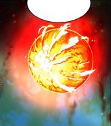 Satan absorbing heat and light of Sun's Corona