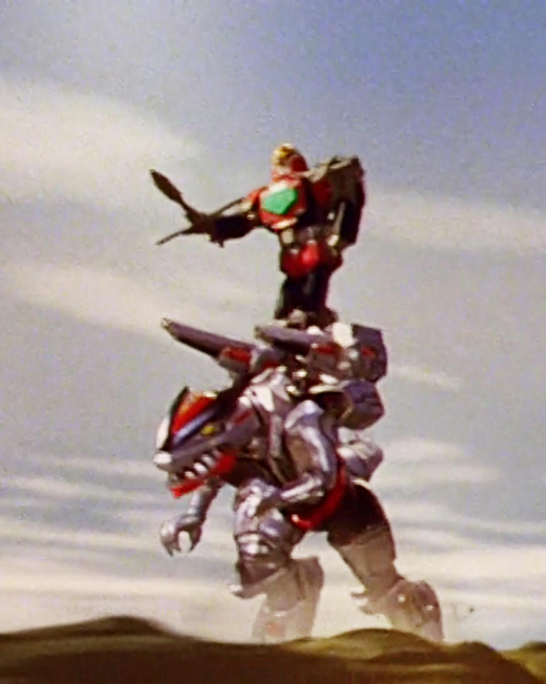 TF Time Force Megazord Riding Q-Rex