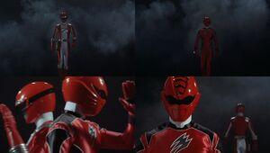 Red Senshi Handover- Boukenger - Gekianger