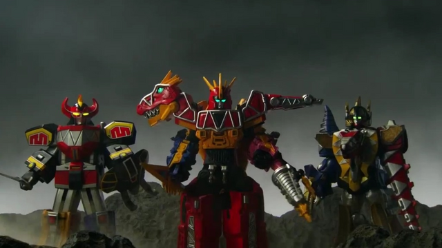 File:Daizyujin, Kyoryuzin and AbarenOh in the Movie.png