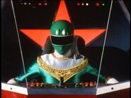 Red Battlezord Cockpit with Green Ranger