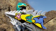 KyoryuGreen with Shield Lan Slasher