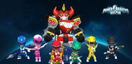 Mighty Morphin Power Rangers in Power Rangers Dash