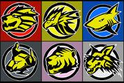 Gaoranger Emblems by Domafox