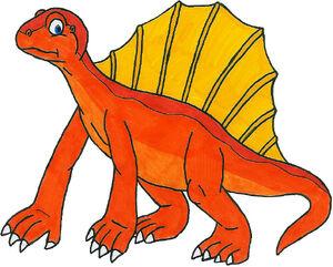 Dan the Orange Dimetrodon by MCsaurus