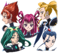 Toei - Movie 1 - Dark Pretty Cure 5 heads