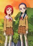 Michiru and Kaoru in school uniform