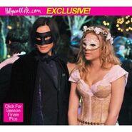 Caleb (left) and Hanna (right) at the Masquerade Ball.