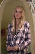 Sara wearing emily's clothes