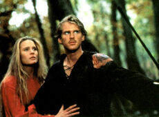 Westley and Buttercup, confronted by Humperdink