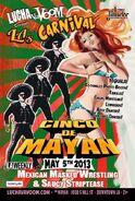 Lucha VaVoom Cinco De Mayan 2013 Poster