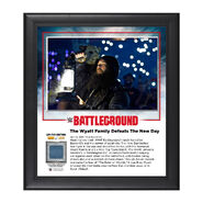Wyatt Family Battleground 2016 15 x 17 Commemorative Framed Plaque w Ring Canvas