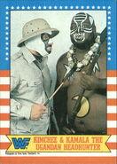 1987 WWF Wrestling Cards (Topps) Kimchee & Kamala 11
