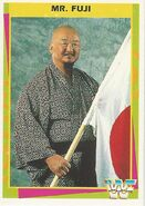 1995 WWF Wrestling Trading Cards (Merlin) Mr. Fuji 19