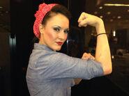 Cheerleader Melissa as Rosie the Riveter
