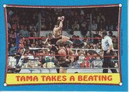 1987 WWF Wrestling Cards (Topps) Tama Takes A Beating 41