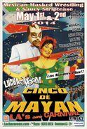 Lucha VaVoom Cinco De Mayan 2014 Poster